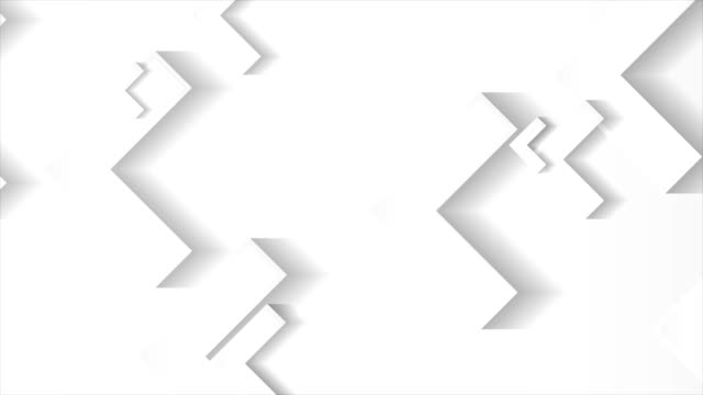 grey and white tech paper arrows motion background - arrow filmów i materiałów b-roll