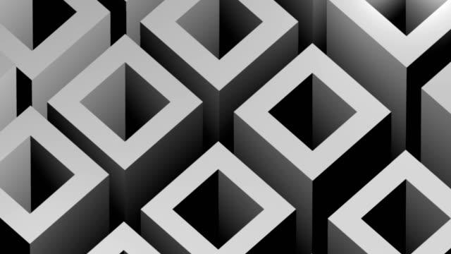 Grey Blocks Background 4k Video Seamless Loop Animation.