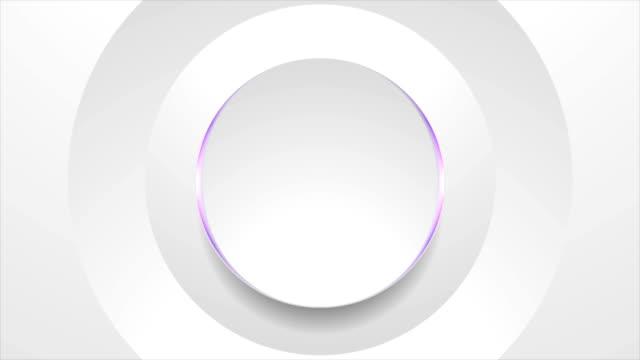 灰色圓圈與紫光抽象技術運動背景 - 商標 個影片檔及 b 捲影像