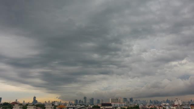 vídeos de stock, filmes e b-roll de nuvem cinzenta ou nuvem de tempestade. - cúmulo