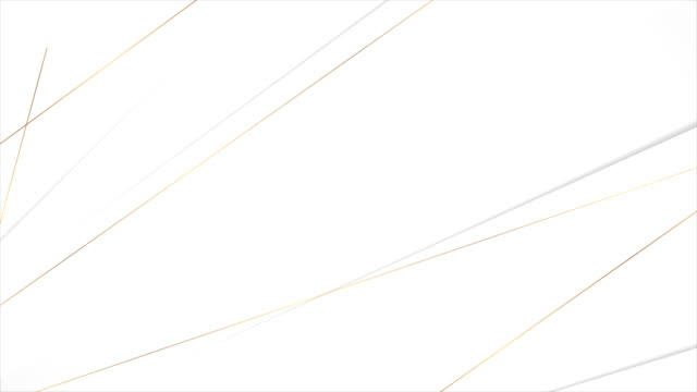 Grey corporate video animation with golden lines Grey white corporate motion design with golden lines. Seamless looping. Video animation Ultra HD 4K 3840x2160 geometric background stock videos & royalty-free footage