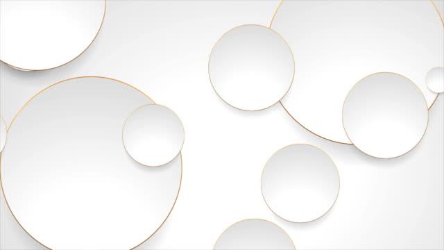 grey silver circles with bronze luxury outlines video animation - złoty kolory filmów i materiałów b-roll