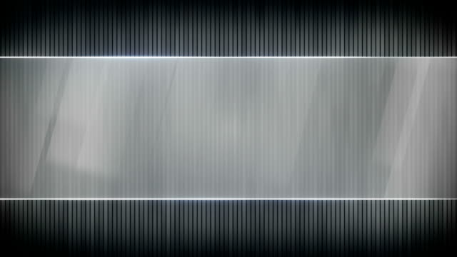 grey stripes and blank banner seamless loop video