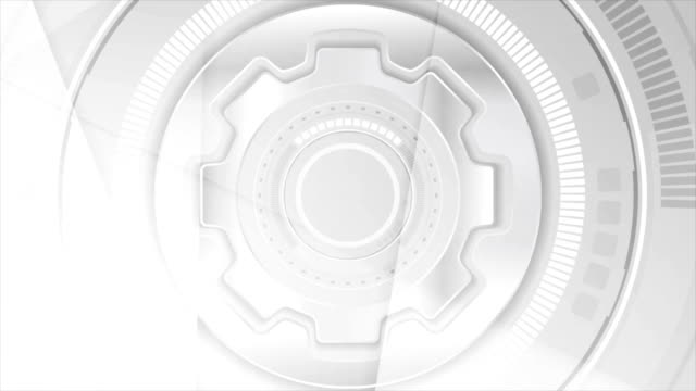 Grey tech futuristic abstract video animation