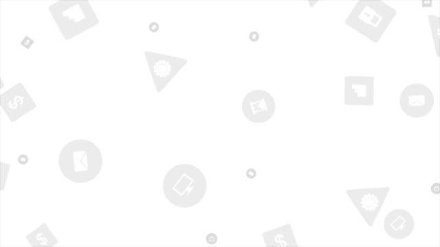 회색 기술 사회 아이콘 비디오 애니메이션 - 배경 초점 스톡 비디오 및 b-롤 화면