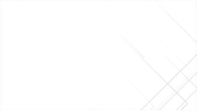серые белые абстрактные линии технологии футуристической видео-анимации - в стиле минимализма стоковые видео и кадры b-roll