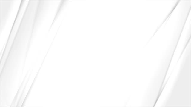 grey white smooth stripes abstract video animation - morbidezza video stock e b–roll