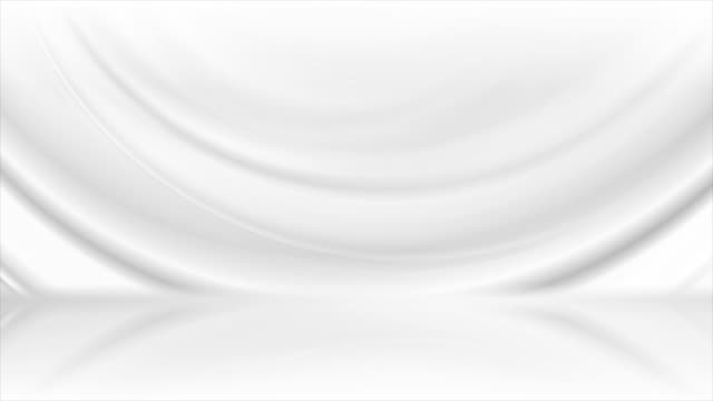 grey white smooth waves abstract tech motion background - бесшовный узор стоковые видео и кадры b-roll