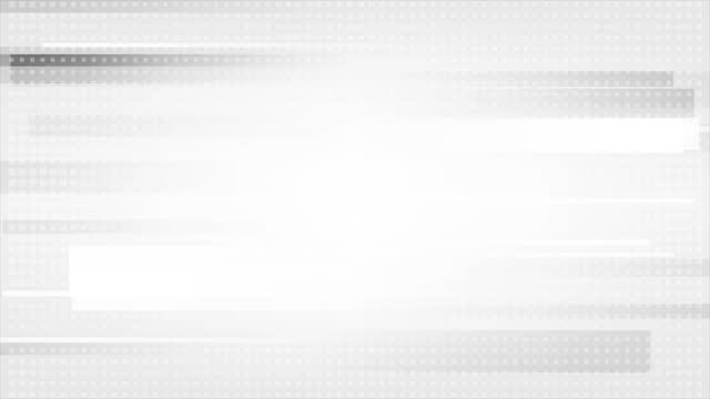 vídeos de stock, filmes e b-roll de fundo de movimento abstrato geométrico de tecnologia cinza branco - padrão repetido