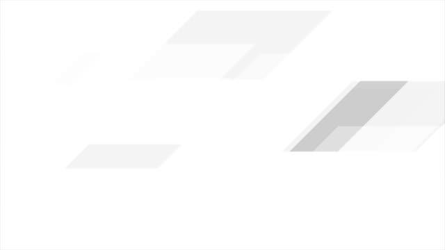 серый белый технологий геометрического минимального фона движения - в стиле минимализма стоковые видео и кадры b-roll