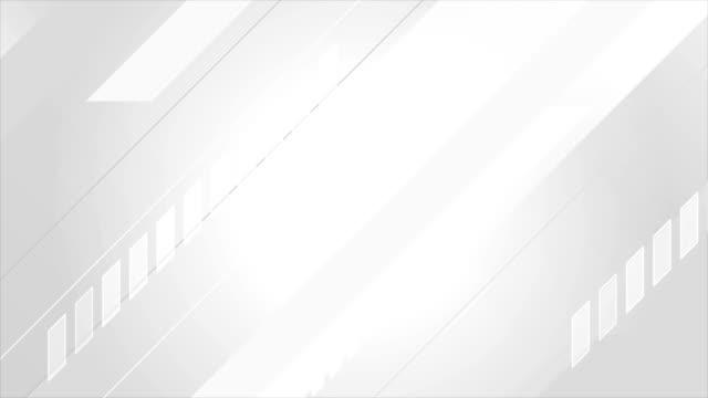 vidéos et rushes de fond de mouvement minimal géométrique de technologie blanc gris - image teintée
