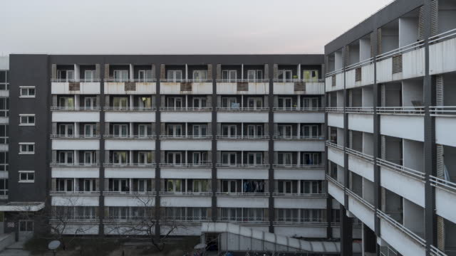 T/L MS HA TU Grid Apartment in Beijing, Day to Night Transition video