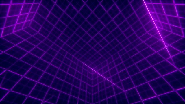 vidéos et rushes de fond de cube de grille - quadrillage