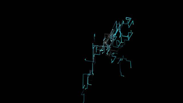 sieć sieciowa - odbicie zjawisko świetlne filmów i materiałów b-roll