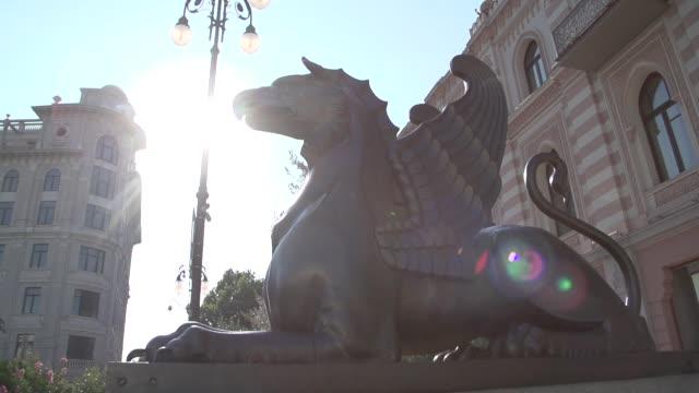 Griffin Bronze Statue video