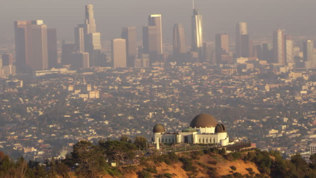 AERIAL Griffith Observatory above LA