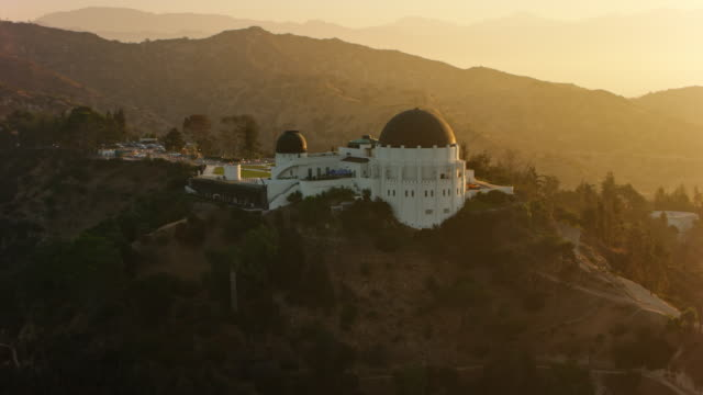 AERIAL Griffith Observatory at sunrise