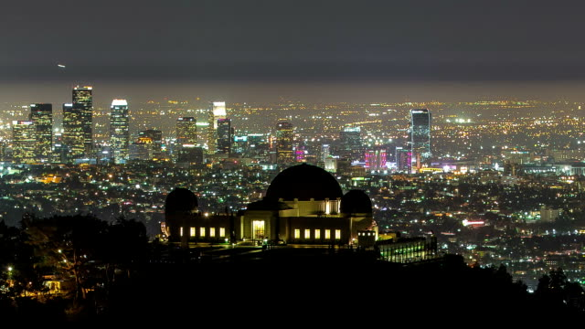 Griffith Observatory Night City Panorama View