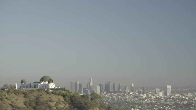 griffith observatory with  downtown - tilt down stock videos & royalty-free footage