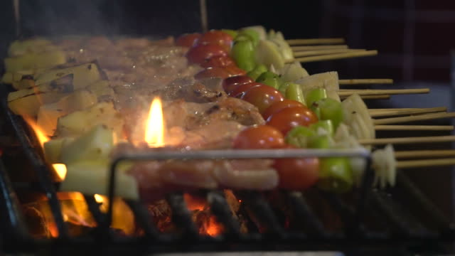 Grilled food video