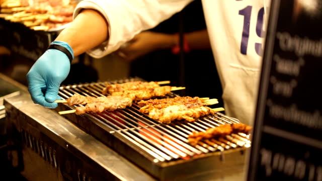 BBQ grilled in izakaya style video