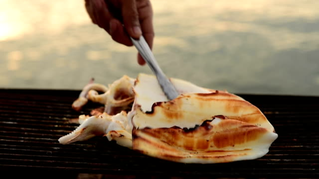 Grilled squid.