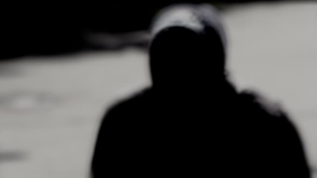 Grim Reaper A mystic silhouette moves on a chamber ghost stock videos & royalty-free footage