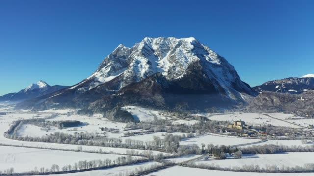 grimming mountain in ennstal, styria, austria - styria filmów i materiałów b-roll