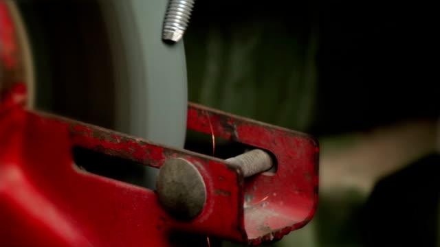 grinding wheel circular file a screw of iron video