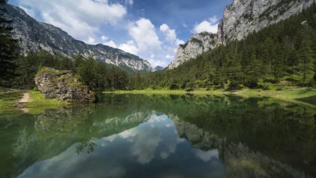 grüner see, austria - styria filmów i materiałów b-roll