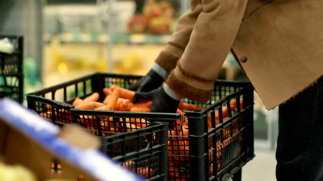 groceries during COVID-19 groceries during COVID-19 carrot stock videos & royalty-free footage