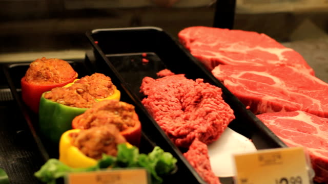 Grocery, meat, deli, shopping, food, cooking Grocery, meat, deli, shopping, food, cooking ground beef stock videos & royalty-free footage