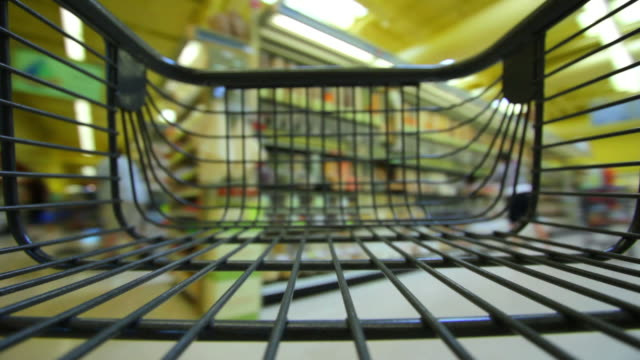 Grocery Shopping Time Lapse  shopping cart stock videos & royalty-free footage