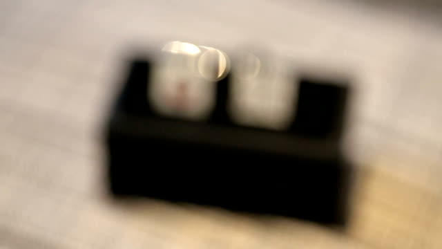 Groom's cuff links in a box. video
