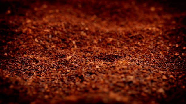 Ground Coffee Granules Rotating video