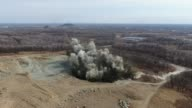 istock Ground explosion in a stone quarry. slow motion . High quality footage. 1219823104