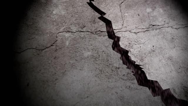 地震引起的地面裂縫 - 石材 個影片檔及 b 捲影像