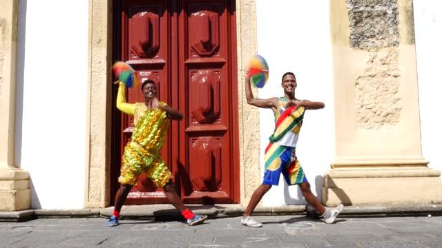 Group dancing Brazilian Frevo