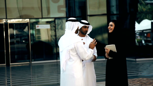 Group Of Arabian Businesspersons Outdoors video