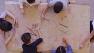 istock Group of children color environmentally conscious mural 1155100925