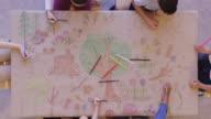 istock Group of children color environmentally conscious mural 1155100944