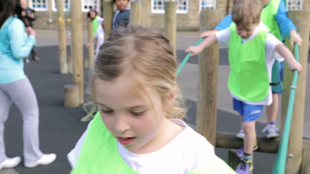 Group Of Children In School Physical Education Class video