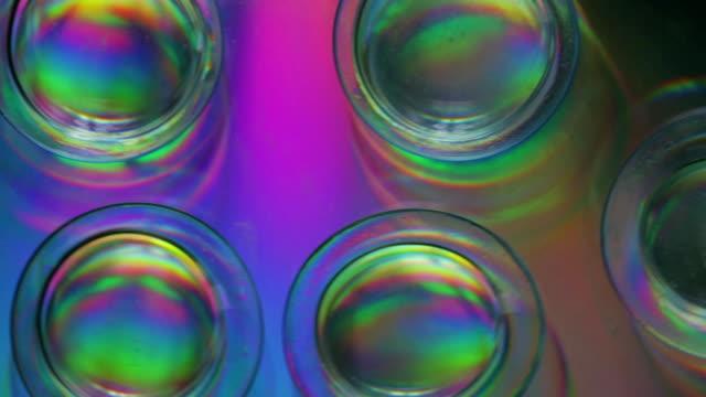 vídeos de stock e filmes b-roll de group of contact lenses - contacts