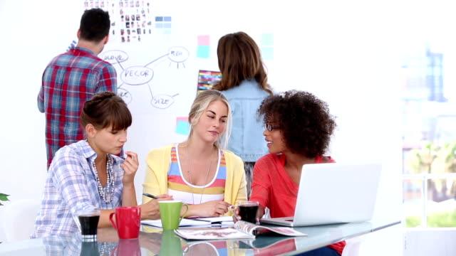 Group of designers brainstorming video