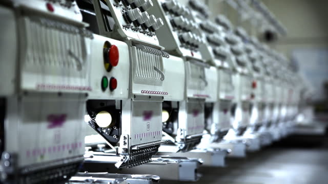 Group of Embroidery Machines video