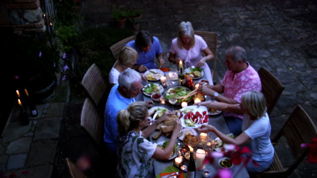 Group of Friends Al Fresco Dining video
