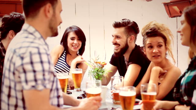 Group Of Friends Enjoying Drink video