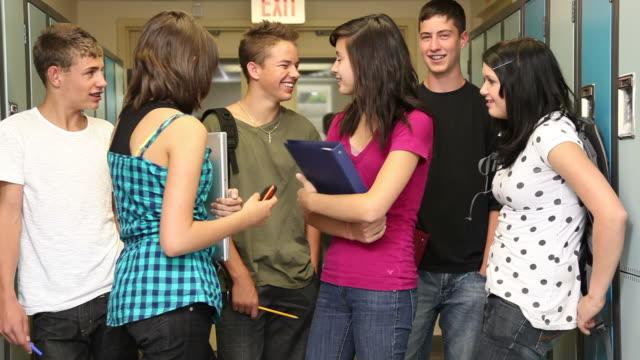 Gruppe von high-school-Schüler – Video