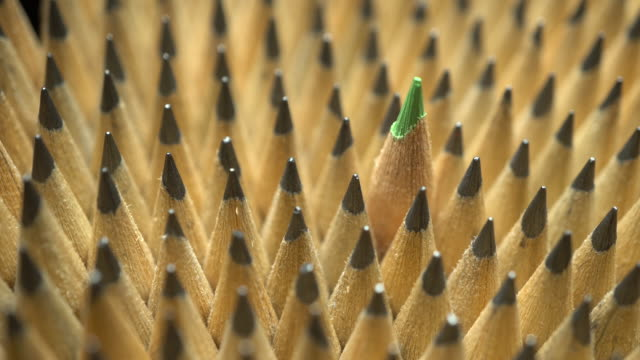 Group of pencils in video