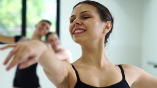 Group of people doing ballet classes We love to do exercises dance studio stock videos & royalty-free footage